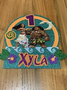 Moana Cake Topper Personalised Kids Birthday Party Decoration