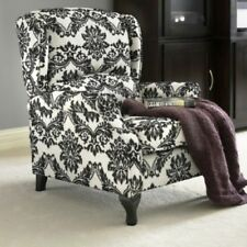 Black Floral Wingback Accent Recliner Reclining Chair Recliners Armchairs Chairs
