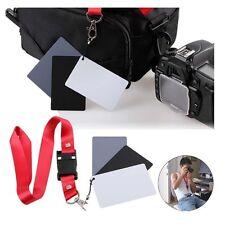 Hot 3in1 18% Gray/White/Black Card Digital Photography Exposure White Balance