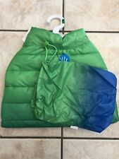 Top Paw Blue Green Puffer Coat Size Large