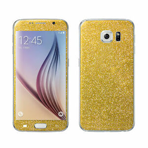 2 x Glitzerfolie Samsung Galaxy S6 Glitter Bling Skin Sticker Design Schutzfolie