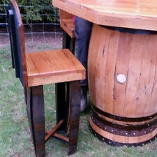 Octagonal Top Solid Oak Garden Table & 4 Stools Set from Recycled Whisky Barrels