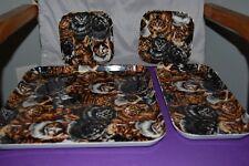 Melamine serving Trays Cat cats Theme Set of 4