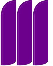 Solid Purple Windless Standard Size Swooper Flag Sign Banner Pk of 3