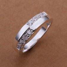 Querida anillo plata 8 circonita compromiso amistad nuevo tamaño 8/18/57mm 312