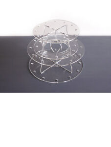 Cake Pop 24 Lollypop Holder Display Acrylic Stand Cupcake Decorating Pops Craft