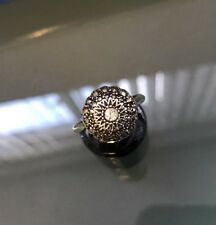Women's Silver Vintage Marcasite & CZ Stone Ring Si O 1/2 Weight 4g Stamped