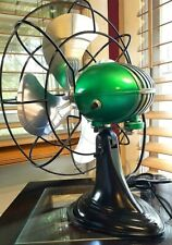 Vintage, 1950's Art Deco  Westinghouse Electric Fan, emerald color, Refurbished