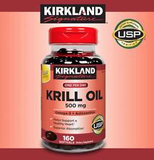 Kirkland Signature Krill Oil 500 mg, Omega-3 Fatty Acids 160 Softgels