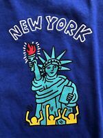KEITH HARING X UNIQLO SPRZ NY Artist T-Shirt BLUE US SZ S - XL NWT MOMA NYC