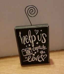 """WEDDING Hashtag # Chalkboard Table Sign """"HELP Us CAPTURE the LOVE ♡"""""""