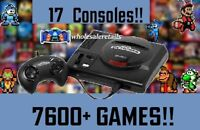 NEW SEGA GENESIS MINI w/ 7600 GAMES + 17 SYSTEMS + CHEATS + XBOX CONTROLLER!