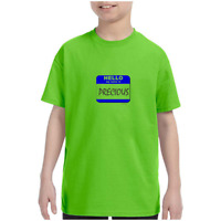 Youth Kids T-shirt Hello My Name Is Precious