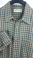 ORVIS Mens Multi-Color Check LS Casual Button Down Shirt Large L Cotton