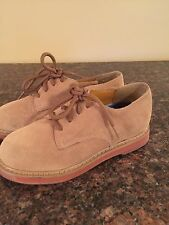NEW Boy's STRIDE RITE Beige JAMES Suede Leather Oxford Dress Shoes 11 Wide 11W