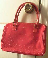 Victoria's Secret handbag purse red with rhinestones and charm