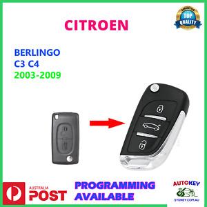 CITROEN C3 C4 BERLINGO FLIP KEY REMOTE SUIT 2003-2010