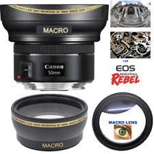 HD3 ULTRA WIDE FISHEYE LENS + MACRO LENS FOR Canon EF 50mm f/1.8 STM Lens