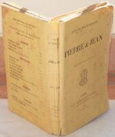 GUY DE MAUPASSANT PIERRE & JEAN ROMANZO 1895 OLLENDORF COMPLETO
