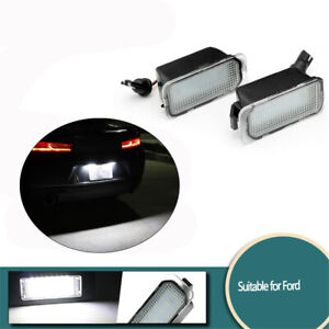 For Ford Fiesta Mondeo Kuga S-Max Car Rear Led License Number Plate Lights Lamp