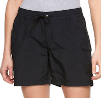 NWT Columbia Ladies Small Court Shorts Black Water Repellent UPF 30, Size Small