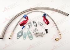 FOR Toyota Supra 1JZGTE 2JZGTE 1JZ/2JZ Single Turbo Oil Feed Line Kit Flange 9PC