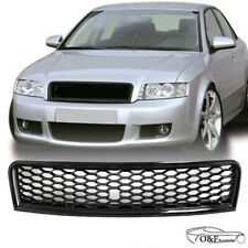 For 2002 2005 Audi A4/S4 B6 Front Upper Grille Gloss Black Honeycomb Mesh Grille