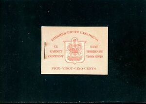 LOT 91315 MINT NH BOOKLET 34c FRENCH CONTAINS 2 PANES 251a KING GEORGE V1
