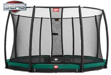 Berg InGround Champion 14ft Trampoline w Safety Net Dlx & TwinSpring Gold spring