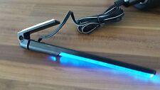 Designer LAMPE blaues Licht, PKW, CAMPER, BOOT, Wohnung, mit kleinem Stativ 12V