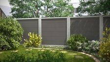 Komplett Set für 7,63 Meter Design WPC Alu anthrazit Sichtschutz Zaun