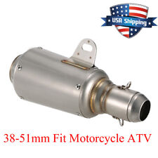 Universal Motorcycle Exhaust Muffler Silencer Pipe Slip On Exhaust 51mm US