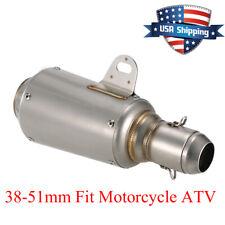 Universal Motorcycle Exhaust Muffler Silencer Pipe Slip On Exhaust 51mm US