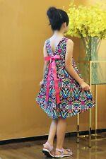 NEW Kid Girl Spring Summer Bohemia Hi-low Hem Dress Multicolor Wear SZ 90CM Z8B