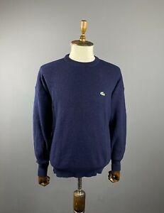 Men Chemise Lacoste Blue Crew Neck Sweater Jumper Size 6 / XL