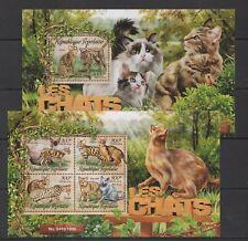 TG006 2016 TOGO FAUNA DOMESTIC ANIMALS PETS CATS LES CHATS KB+BL MNH