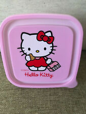 Hello Kitty Plastic Container Pink Lid