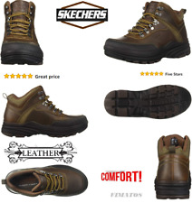 Skechers Men's Memory Foam Leather Holdren-Brenton Chukka Boot,14 Wide US