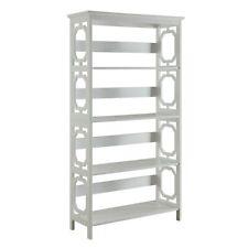 Convenience Concepts Omega 5 Tier Bookcase, White, White - 203250W