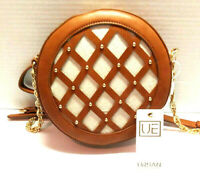Urban Expressions Maxine Vegan Leather Round Women Cross Body Bag Purse Tan NEW