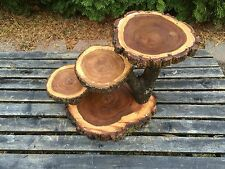 Cascading Elm Wood Rustic Cake 45 Cupcake Stand Wedding party shower
