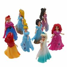 8pcs/set Disney Princess Action Figures Changed Dress Doll Kids Xmas Gift