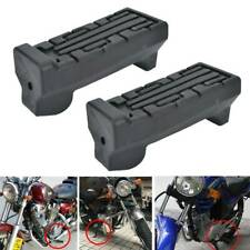 2 PCS Motorcycle Front Footrest Rubbers Pedal Foot Peg For Yamaha YBR 125