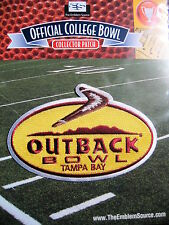 NCAA College Football Bowl Outback Bowl Patch 2013/14 LSU Iowa