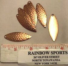 10 Worm Harness Spinner Bait Blade Willow Leaf #4 Hammered Copper Walleye