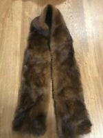 "100% original and natural Russian Barguzin Sable fur piece 40""x4"""