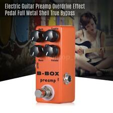 MOSKY Electric Guitar Preamp Overdrive Effect Pedal Metal True Bypass Hot Z9S0
