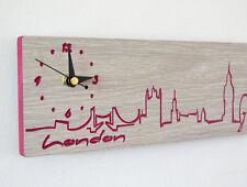 London Engraved Wood1 - Wall Clock