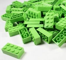 LEGO BRICKS 100 x LIME 2x4 Pin - From Brand New Sets Sent in a Clear Sealed Bag
