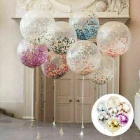Confetti Latex Balloons 10pcs Gold Foil Wedding Birthday Party Decoration 12inch